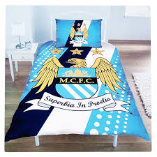Duvet Club Manchester City Football Club Single Size Duvet Cover Bedding Set