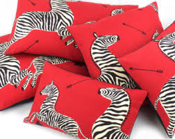 red throw pillow etsy