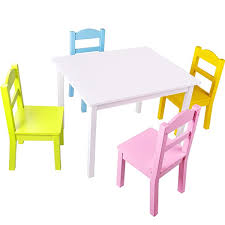 kids table and chairs set pastel chairs with white table