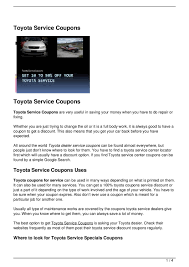 toyota dealer services toyota service coupons by gregory j kavander issuu