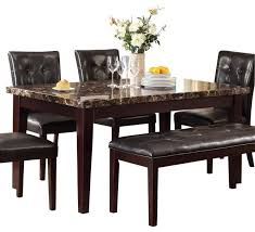 best 25 marble dining tables homelegance teague faux marble dining table in espresso set best