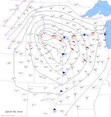 Cold Front Map April 30 1967 Minnesota Iowa Tornado Outbreak