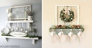 alternative mantle ideas for holiday decorating mantle without