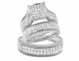 wedding trio sets diamond trio ring sets