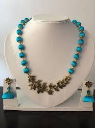 antique necklace pendant images Silk thread antique metal pendant necklace set at rs 1100 piece jpg