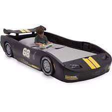 delta children bb87005gn turbo race car twin bed black kids boys