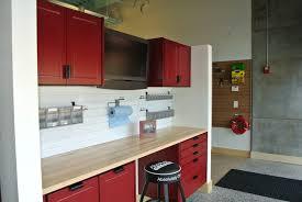 redline garagegear garage cabinet dealer opens new showroom in