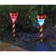 Christmas Decorations Pathway Lights by Lytworx 26cm Candy Stripe Solar Path Light 22518 Bunnings