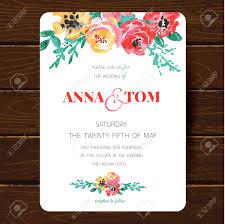 Design Wedding Invitation Cards Wedding Invitation Card Template Hand Drawn Watercolor Design