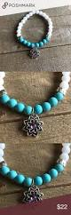 natural turquoise stone handmade natural turquoise and white onyx bracelet boutique