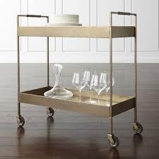 Crate And Barrel Bar Stool Libations Bar Cart Crate And Barrel