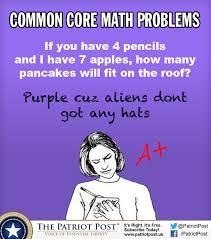 humor common core math problems the patriot post education