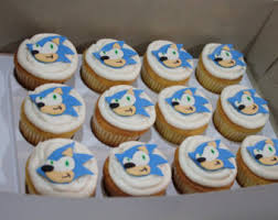 sonic the hedgehog cake topper cupcake sonic the hedgehog etsy
