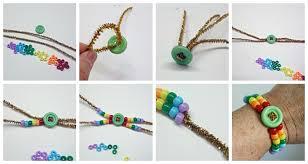 craft bracelet beads images Rainbow pony bead bracelet crafts by amanda jpg