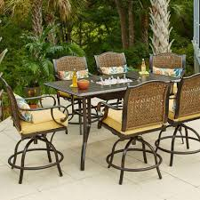 Outdoor Patio Table And Chairs Hton Bay Vichy Springs 7 Patio High Dining Set Frs80589ah