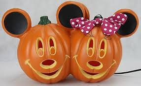mickey minnie mouse light disney halloween pumpkin