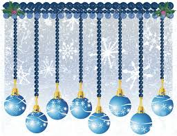 Blue Snowflakes Decorations Christmas Decorations Illustrated With Snowflakes On A Blue