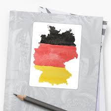 Germany Flag Colors Germany Country Outline In Black Red And Gold Flag Colors