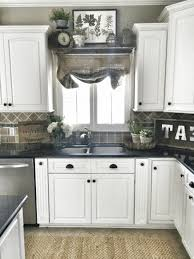 eat signs smooth black granite countertop plain wooden flooring
