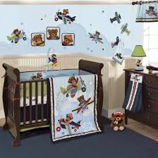 airplane boy crib bedding planes with bears are flying into your