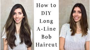 how to cut a aline bob on wavy hair diy how to cut a line long bob cutting off my hair at home
