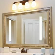 Metal Framed Mirrors Bathroom Metal Frame Bathroom Mirror House Decorations Throughout Framed