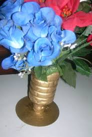 old cd and plastic bottle flower vase tutorial recycle idea