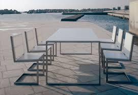 Aluminum Patio Dining Table Furniture Luxury Aluminum Outdoor Furniture With Rectangle White