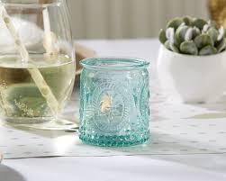 amazon com kate aspen vintage blue glass tealight holder set of