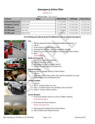 emergency action plans environmental health and safety
