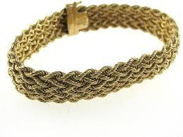 antique gold bracelet images Sold vintage woven gold bracelet 14k the antiques room jpg