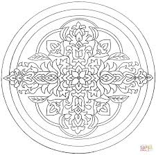 mandala with flowers coloring page free printable coloring pages