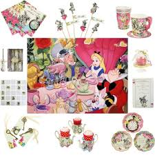 truly alice in wonderland mad hatter vintage tea party cups plates