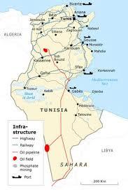 tunisia physical map economy of tunisia