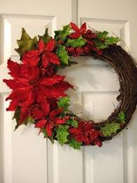 diy poinsettia wreath idea make a large one and hang