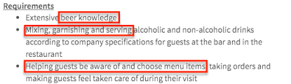 Job Description For Bartender On Resume by Bartender Resume Sample Resume Genius