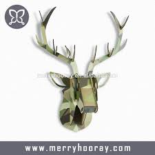 100 deer home decor ivory and gold dot deer head cool white