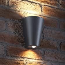 outdoor double wall light auraglow 14w outdoor double up down wall light weybridge grey