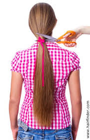 rusk ponytail method pictures creating a shag by putting your hair in a ponytail and cutting it