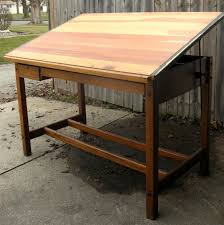 Drafting Table Blueprints Diy Hardwood Drafting Drawing Table Intended For Stylish Diy