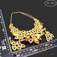 big statement gold necklace images African gold plated bridal jewelry sets with big crystal new jpg