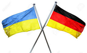Ukraine Flag Ukraine Flag Combined With Germany Flag Stock Photo Picture And