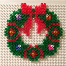 xmas wreath christmas deco weihnachten kranz perler beads