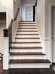 staircase upgrade with engineered hardwood floors