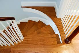 wood stairs install molton flooring