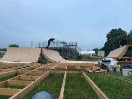 lexus hoverboard advert greenpeace skate park taking shape at glastonbury festival