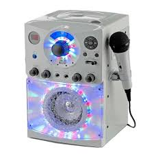 light up karaoke machine singing machine karaoke system with led disco lights and two wired
