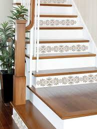 Best Paint For Stair Banisters Best 25 Stenciled Stairs Ideas On Pinterest Floor Art Yoga