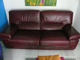 achetez canapé cuir buffle occasion annonce vente à montpellier 34