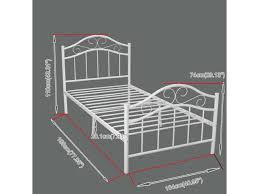 twin size metal platform bed frame heavy duty bedroom headboard